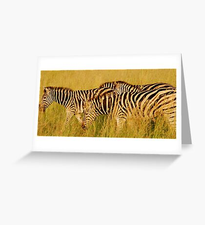 breakfast on the go Greeting Card