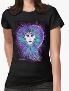 Snowflake - Woman Face Art by Valentina Miletic Womens Fitted T-Shirt
