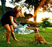 Puppies and Bubbles by MalinRawl