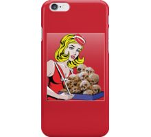 cigarette girl - skulls iPhone Case/Skin