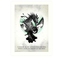 Skyrim - Dragonborn Art Print