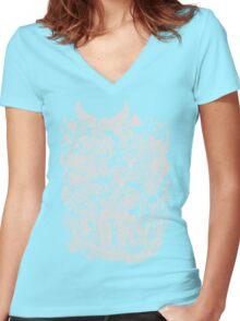 Old Friends (warm tones) Women's Fitted V-Neck T-Shirt