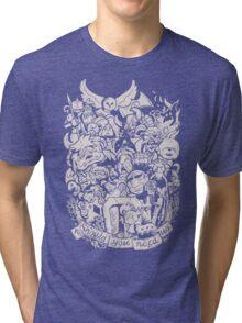 Old Friends (warm tones) Tri-blend T-Shirt