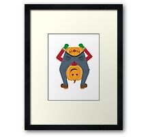 Sailor Jerry Inspired Aloha Pumpkin Framed Print