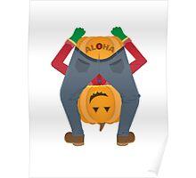Sailor Jerry Inspired Aloha Pumpkin Poster
