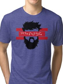 Bearded Wingdings Tri-blend T-Shirt