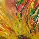 Sunflower - Encaustic Painting by Loreen Finn