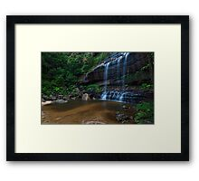 Wentworth Falls - The Base Framed Print