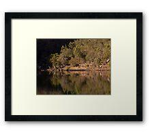 Reflections at the Basin - Bents Basin, NSW Framed Print