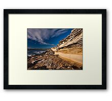 Sculptured by Nature - Maroubra Beach, NSW Framed Print