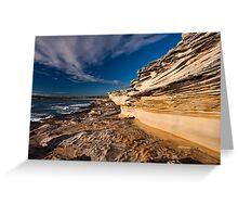 Sculptured by Nature - Maroubra Beach, NSW Greeting Card