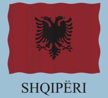 Albania flag by stuwdamdorp