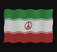 Iran flag with peace symbol Kids Clothes