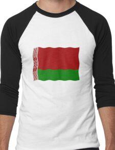 Belarus flag Men's Baseball ¾ T-Shirt