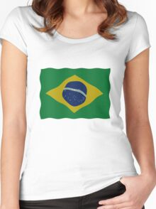 Brazilian flag Women's Fitted Scoop T-Shirt