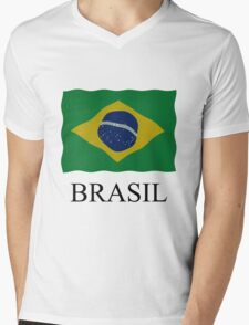 Brazilian flag Mens V-Neck T-Shirt