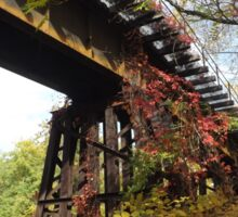 Abandoned Railroad Trestle, Autumn Colors, Jersey City, New Jersey Sticker