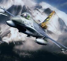 F16 Falcon Tiger by Bob Martin