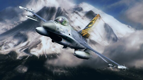 F16 Falcon Tiger by Bob Martin