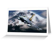 F16 Falcon Tiger Greeting Card