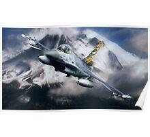 F16 Falcon Tiger Poster