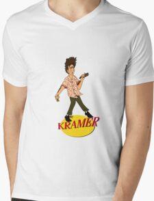 Kramer Cartoon Mens V-Neck T-Shirt