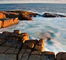 Wet rocks, Boat Harbour dusk by bazcelt