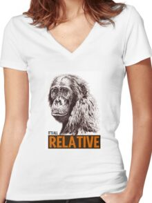 It's all Relative Women's Fitted V-Neck T-Shirt