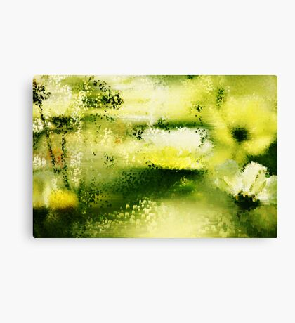 Dreamy Flowers In The Rain  Canvas Print