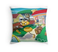 Scene from a Cartoon Marriage Throw Pillow