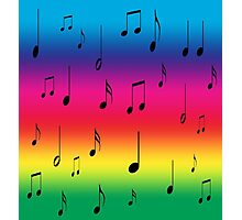 Musical Rainbow! Photographic Print