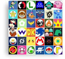 Nintendo Collage Canvas Print