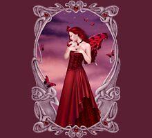 Garnet Birthstone Fairy Womens Fitted T-Shirt