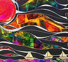 Three Ships - Let's Sail Away by Gisela  Gibbon