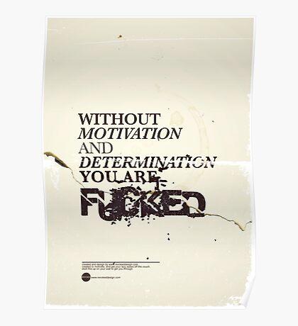 MOTIVATION & DEDICATION Poster