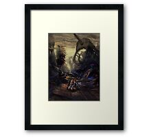 Road Hazard Framed Print