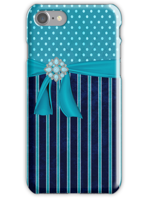 Polka Dots,Stripes,Ribbons & jewels Iphone or Ipod Case by jvinnyg