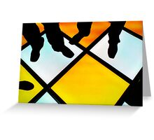 Funky Dance Floor Greeting Card