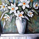 White Daffodils by Pamela Plante