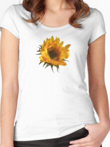 Sunflower Opening Women's Fitted Scoop T-Shirt