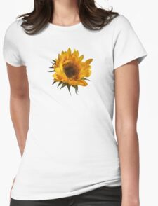 Sunflower Opening Womens Fitted T-Shirt