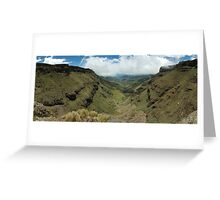 Sani Pass South Africa Greeting Card