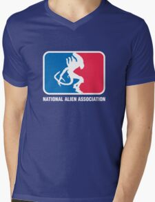 National Alien Association Mens V-Neck T-Shirt