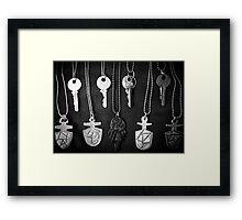 Doctor who TARDIS keys Framed Print