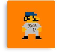 Video Game Baseball Player Canvas Print