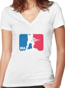 National Halo Association Women's Fitted V-Neck T-Shirt