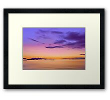 Alba Evening Framed Print