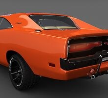General Lee Car Dukes of Hazzard 2969 Dodge Charger Rear by DW3DMAYA