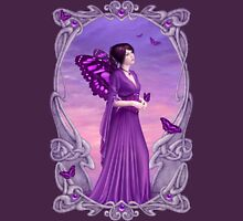 Amethyst Birthstone Fairy Womens Fitted T-Shirt