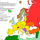 XXIst century European and surroundings map by João Figueiredo